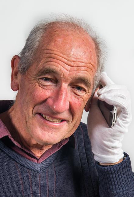 Doctor Bob O'Driscoll answers a smartphone